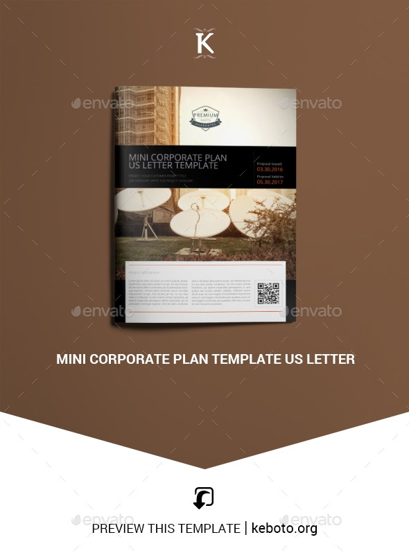 Mini Corporate Plan Template US Letter - Miscellaneous Print Templates