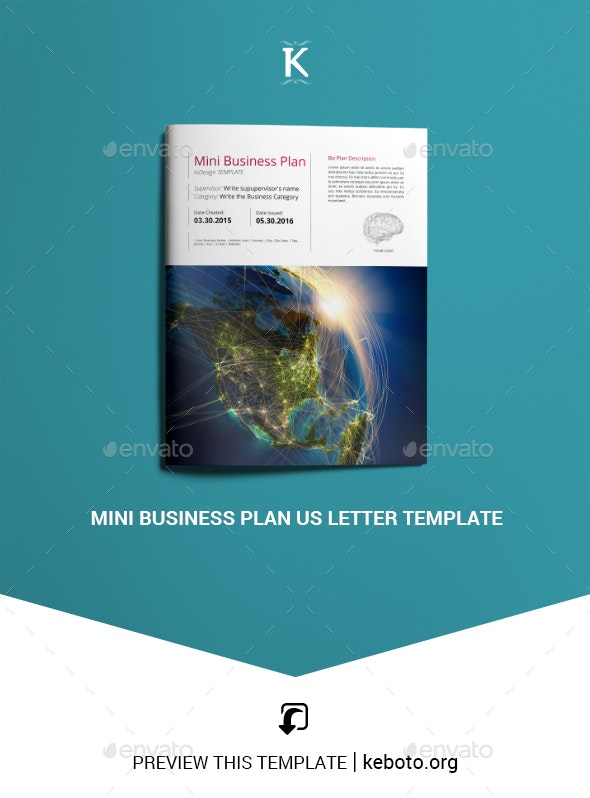 Mini Business Plan US Letter Template - Miscellaneous Print Templates