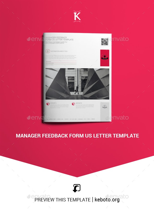 Manager Feedback Form US Letter Template - Miscellaneous Print Templates