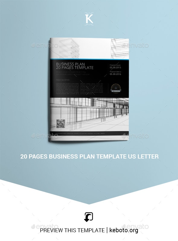 20 Pages Business Plan Template US Letter - Miscellaneous Print Templates