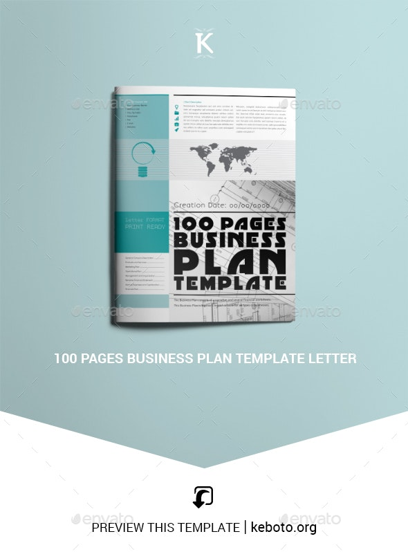100 Pages Business Plan Template Letter - Miscellaneous Print Templates