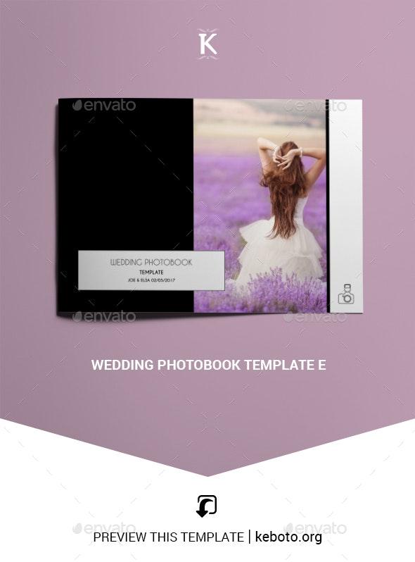 Wedding Photobook Template E - Photo Albums Print Templates