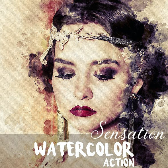 Sensation - Watercolor Photoshop Action
