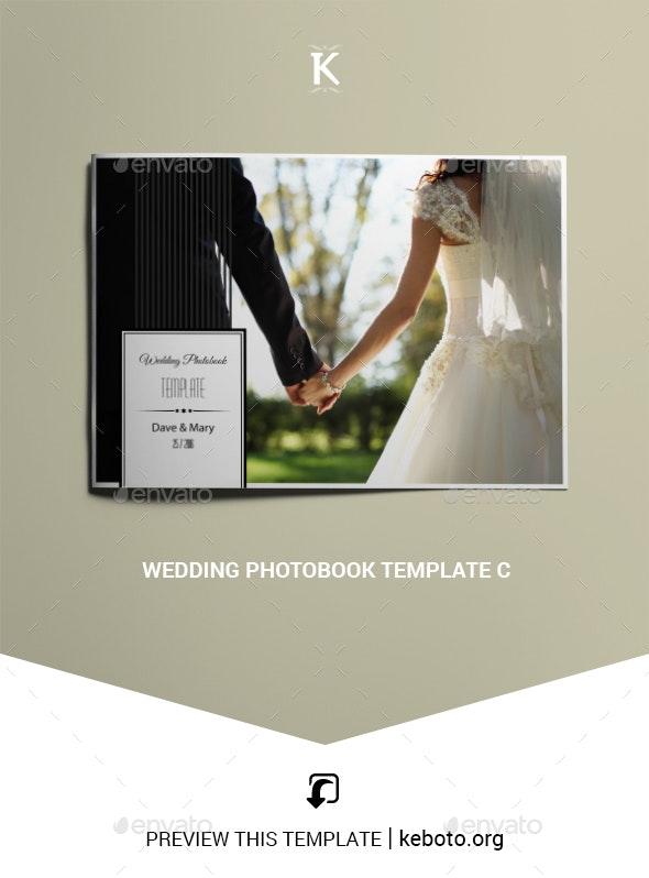 Wedding Photobook Template C - Photo Albums Print Templates