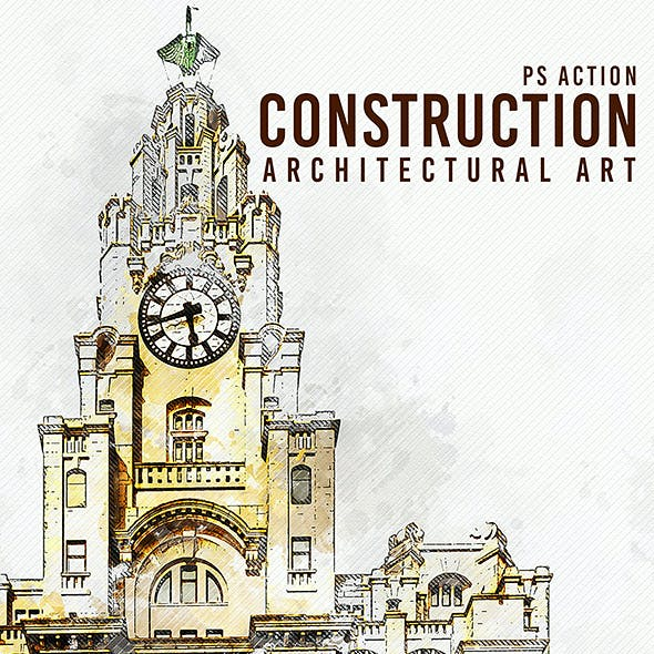 Construction - Architectural Art Photoshop Action
