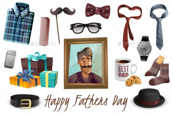 Happy Fathers Day Set - Seasons/Holidays Conceptual