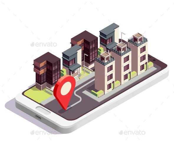 Town House Location Composition - Buildings Objects