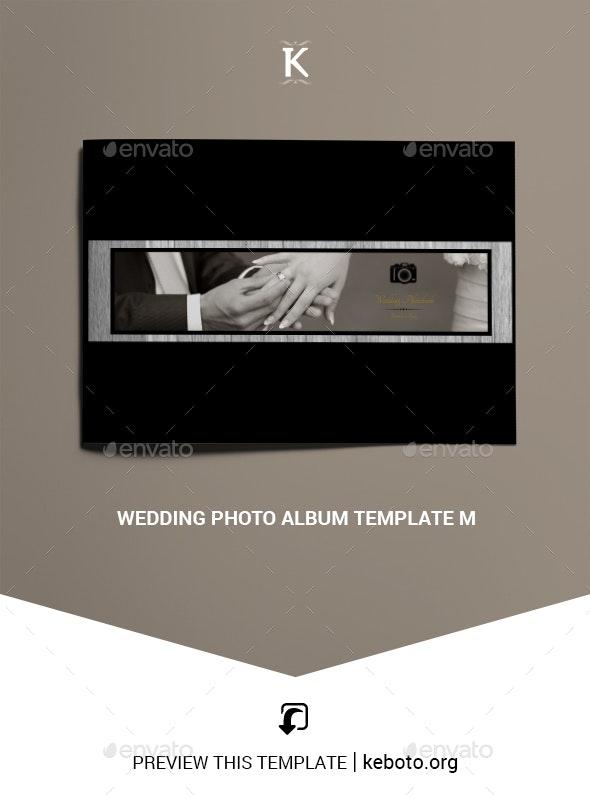 Wedding Photo Album Template M - Photo Albums Print Templates