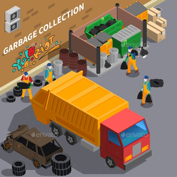 Garbage Collecting Truck Composition - Industries Business