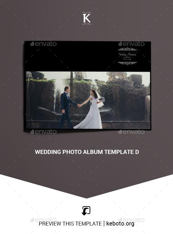 Wedding Photo Album Template D - Photo Albums Print Templates