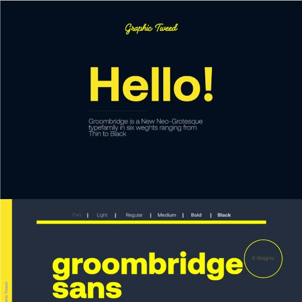 Groombridge Sans Font (6 Weights)