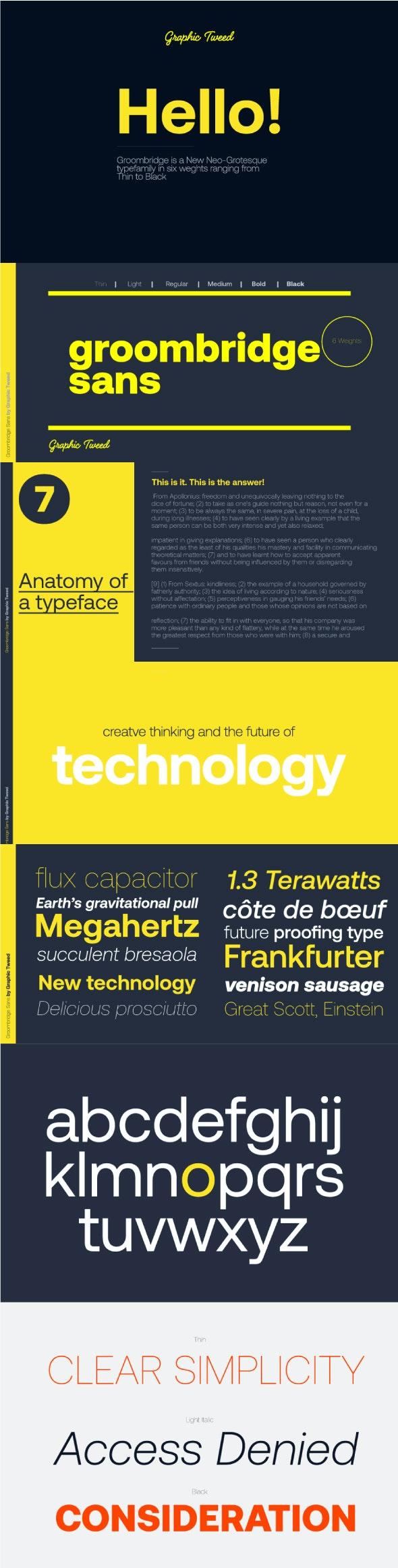 Groombridge Sans Font (6 Weights) - Miscellaneous Sans-Serif