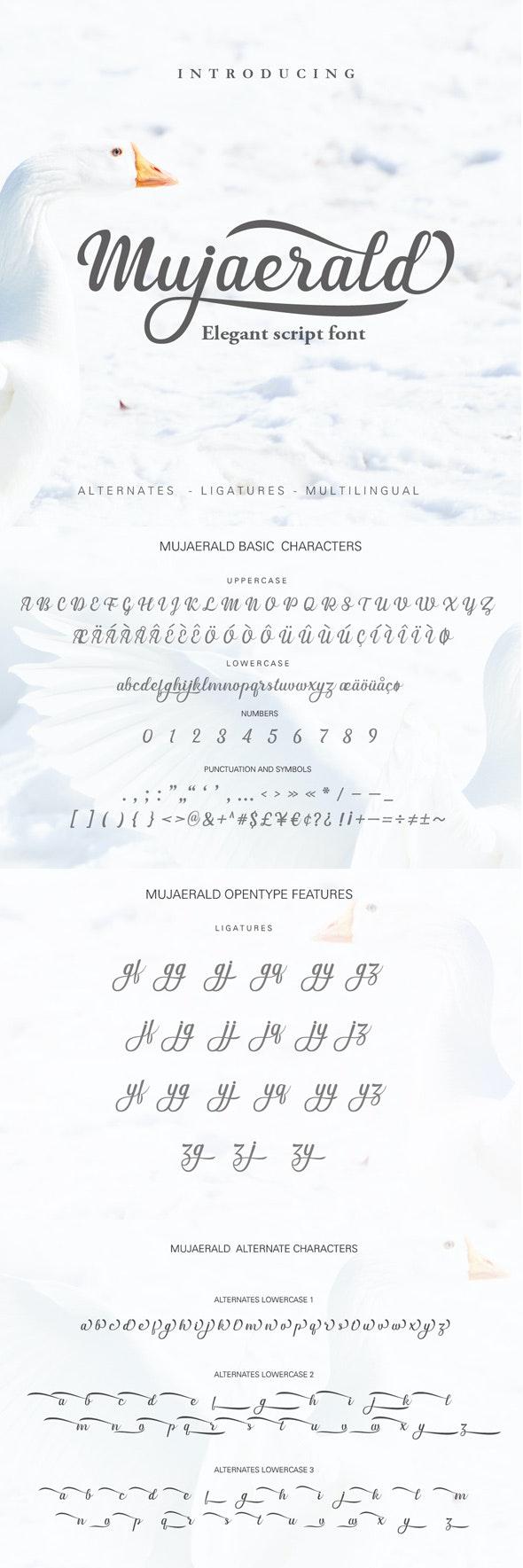 Mujaerald Font - Script Fonts