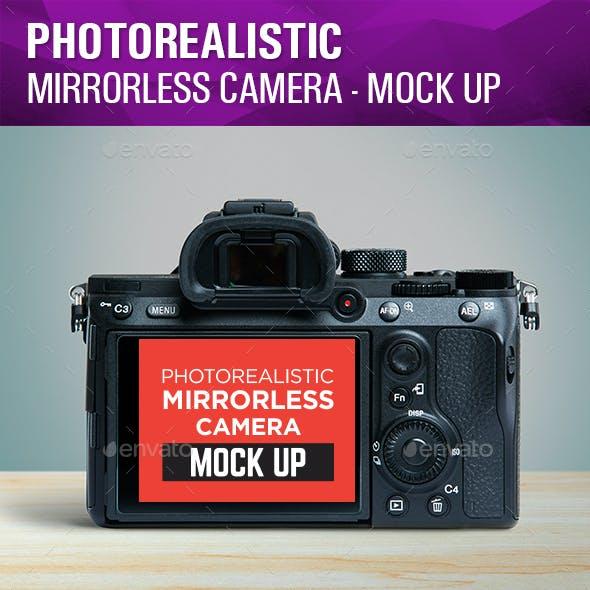 Photorealistic Mirrorless Camera Mock Up