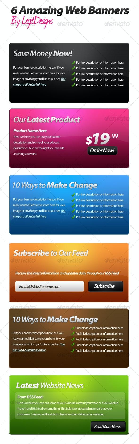 6 Amazing Web Banners - Miscellaneous Web Elements