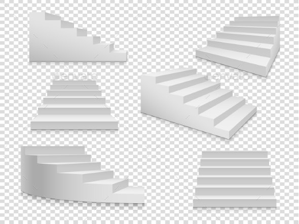 White Stairs - Buildings Objects