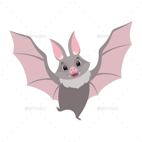 Bat Flying - Animals Characters