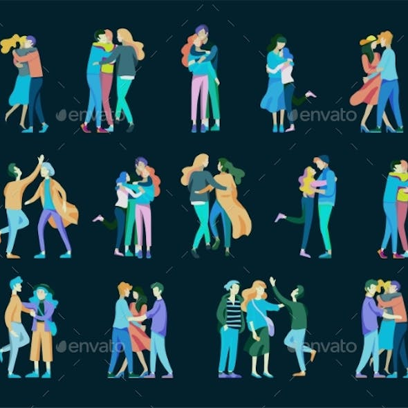 Vector People Friends and Couples