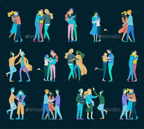 Vector People Friends and Couples - People Characters