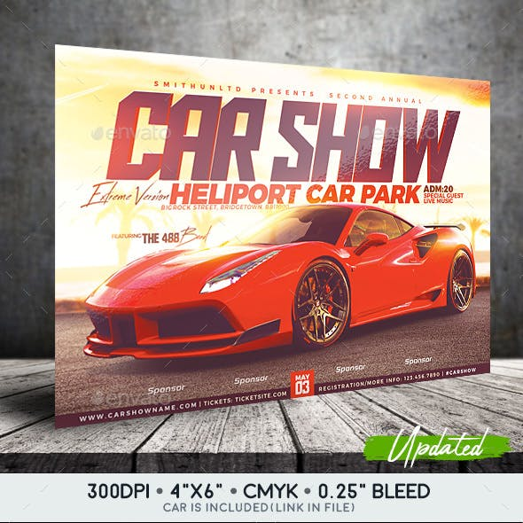 Car Show Flyer - Extreme Edition