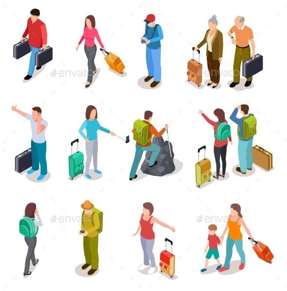 Travel People Isometric Set - Travel Conceptual