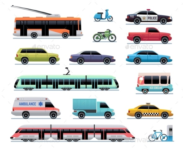 City Transport - Man-made Objects Objects