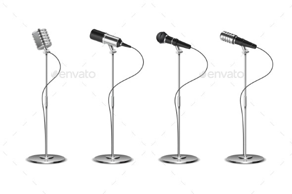 Microphone Set - Man-made Objects Objects