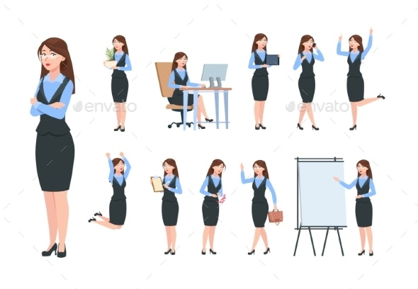Businesswoman Characters - People Characters