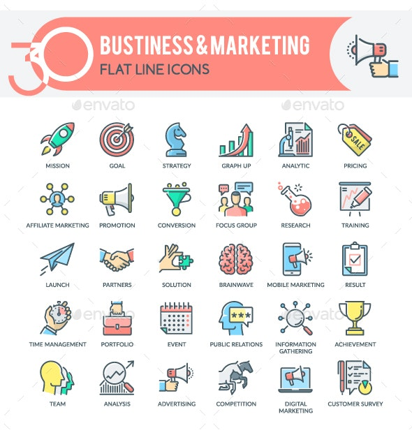Business & Marketing Icons - Business Icons