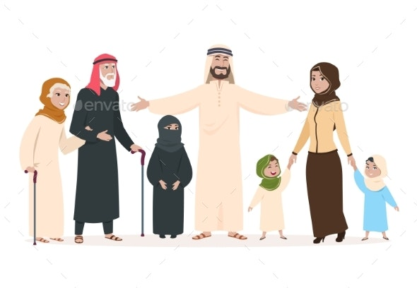 Arab Family - People Characters