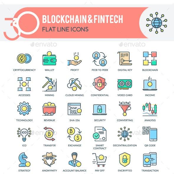 Blockchain & Fintech Icons