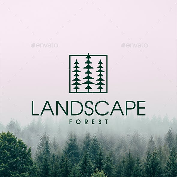Square Forest Logo Template