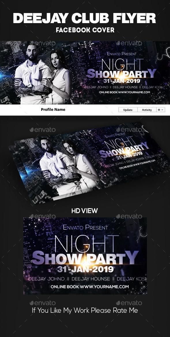 Guest DJ Facebook Cover - Social Media Web Elements