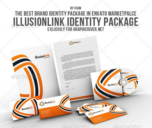 Illusionlink Identity Package - Stationery Print Templates