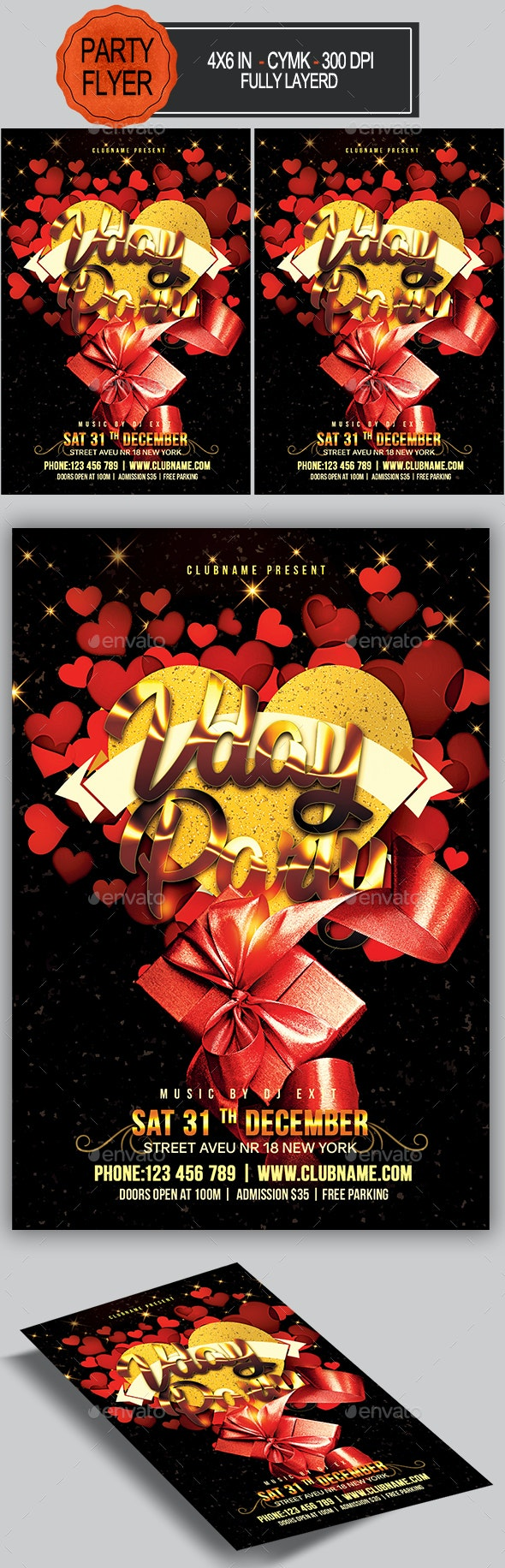 Valentines Day Flyer - Holidays Events