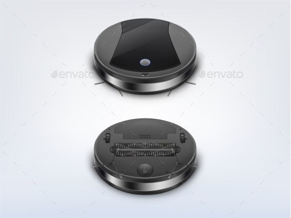 Modern Robot Vacuum Cleaner - Computers Technology