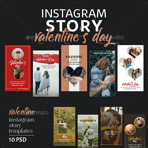 Valentines Day Instagram Story Templates
