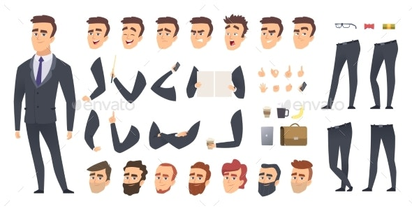 Businessman Constructor - People Characters