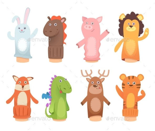 Cartoon Puppets - Animals Characters