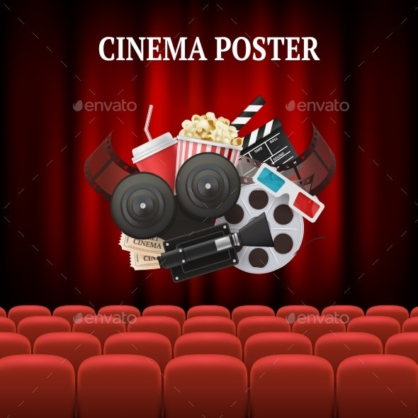 Movie Chairs Background - Backgrounds Decorative