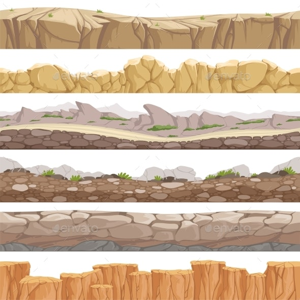 Old Rock Road Seamless - Miscellaneous Vectors