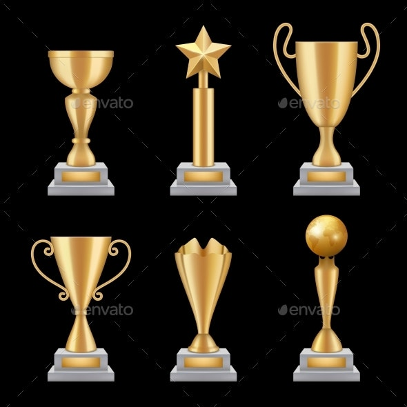 Award Trophies Realistic - Man-made Objects Objects