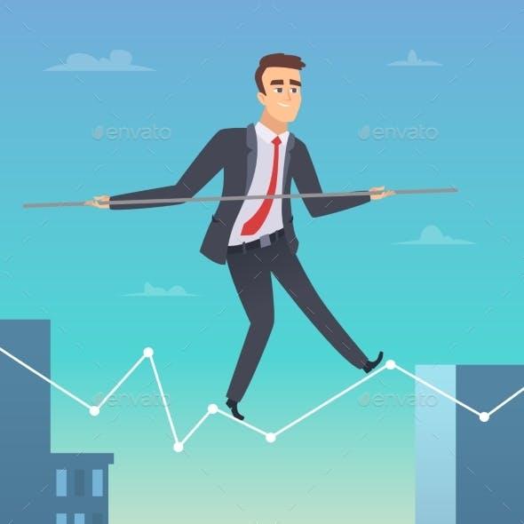 Businessman Balancing