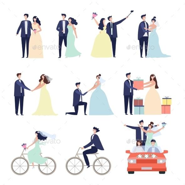 Wedding Ceremonial Set - People Characters