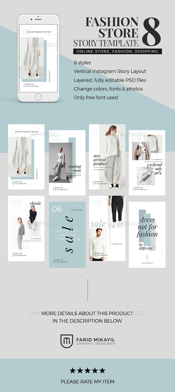 Fashion Store Story Template by FaridMikayil | GraphicRiver