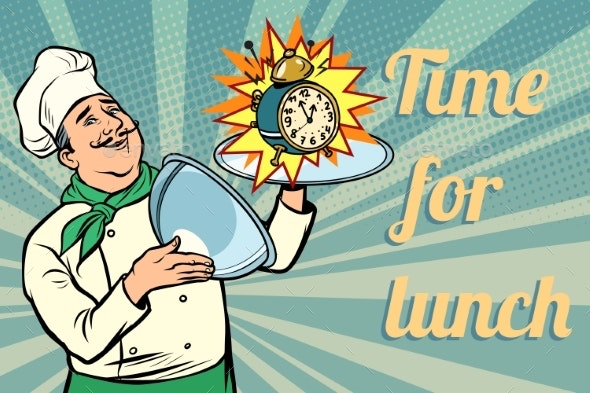 Clock Time for Lunch Chef - Food Objects