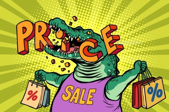 Discount Prices Sale Green Crocodile Character - Animals Characters