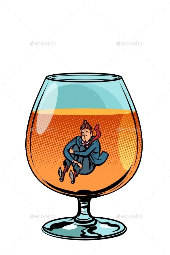 Drunkard in Brandy Glass - Food Objects