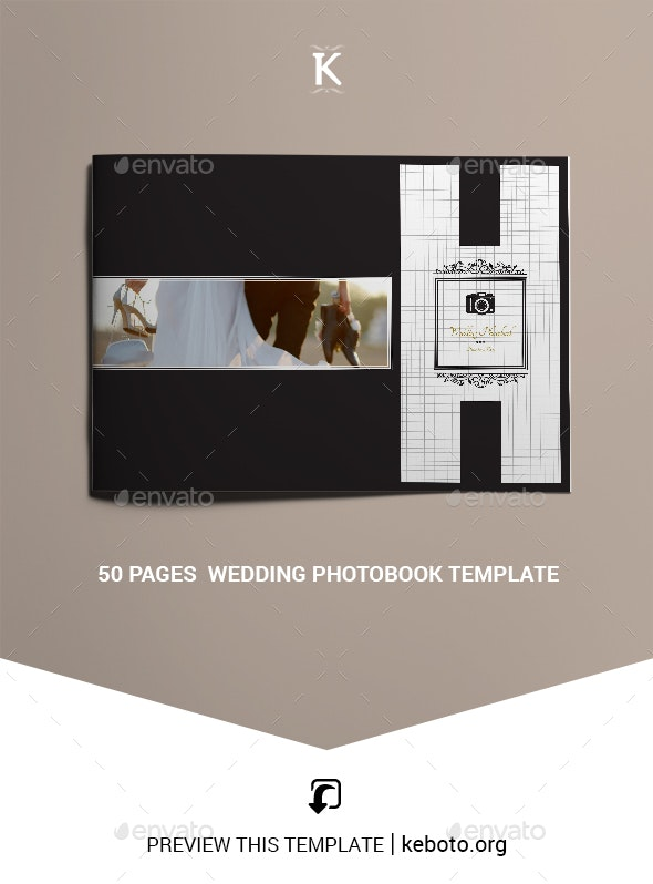 50 Pages  Wedding Photobook Template - Photo Albums Print Templates