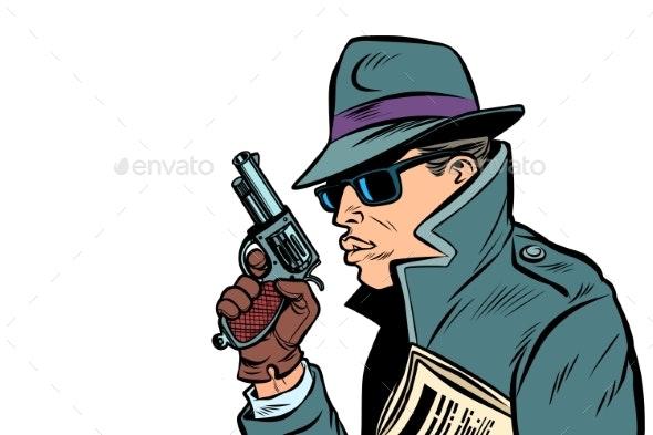 Gun Spy Secret Agent - People Characters